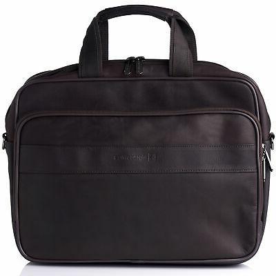 messenger bag leather 15 6 laptop briefcase
