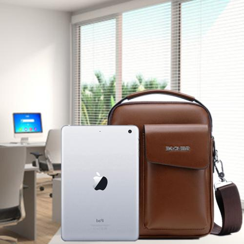 Messenger Leather Briefcase Crossbody Daypack