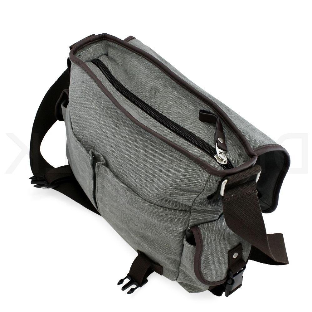 Bag Satchel Canvas Leather
