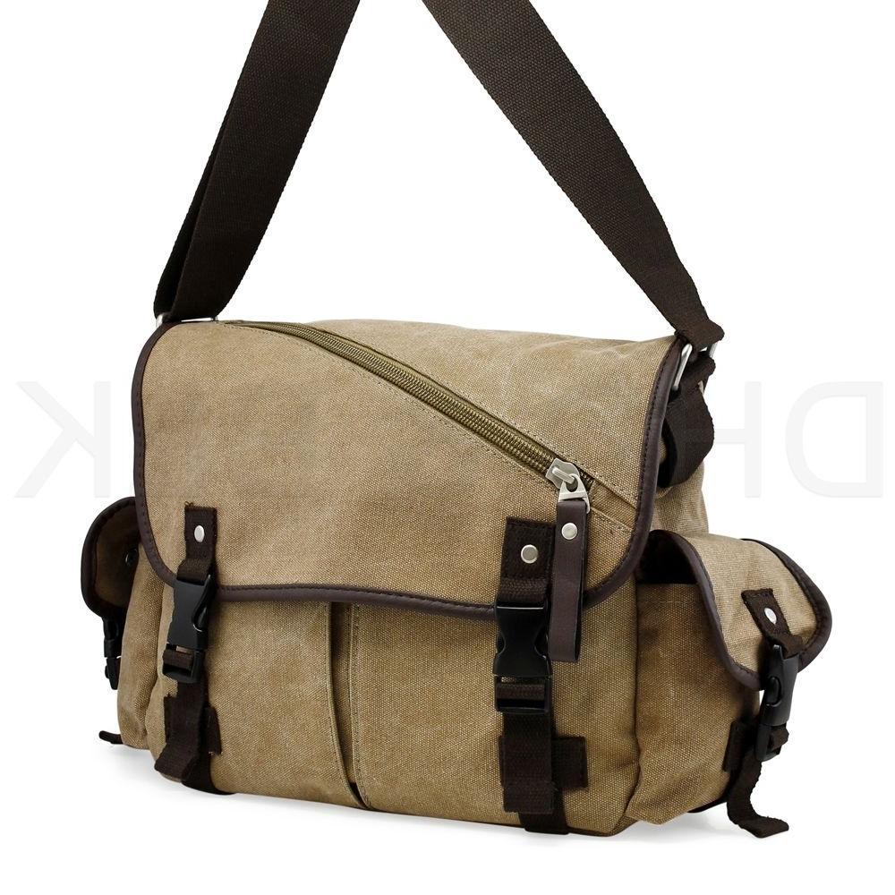 Messenger Bag Men's Vintage Crossbody Satchel Leather