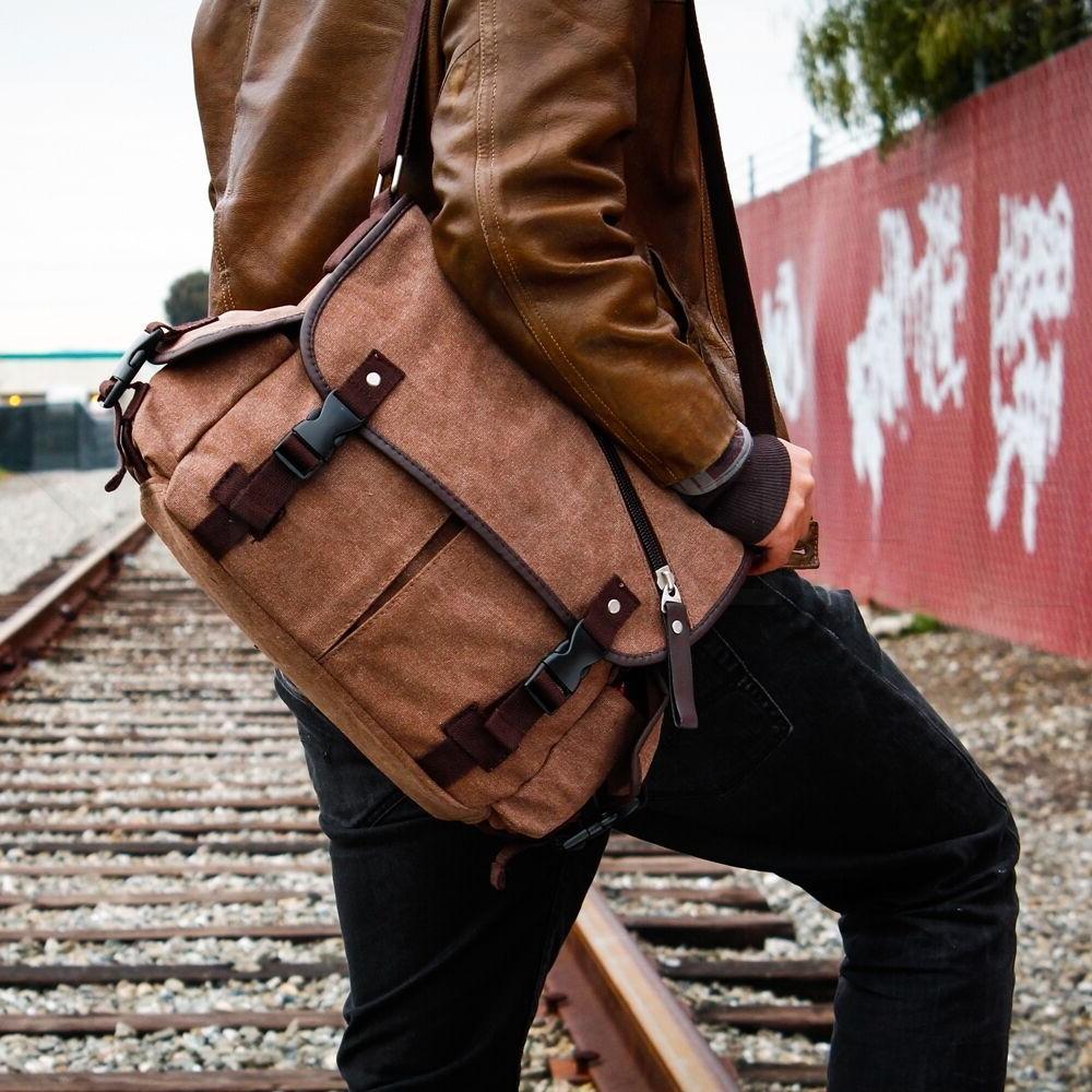 Messenger Bag School Bag Men's Vintage Satchel
