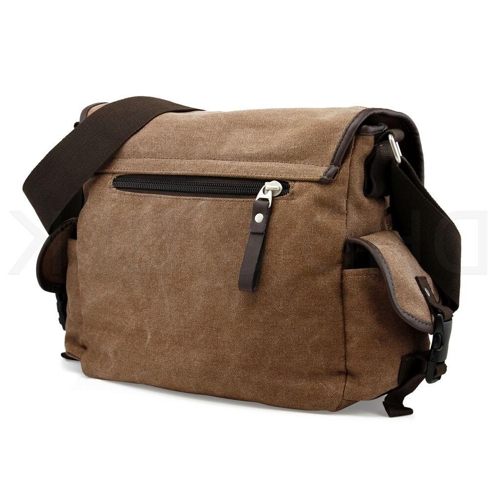 Messenger Bag School Bag Men's Crossbody Satchel Leather