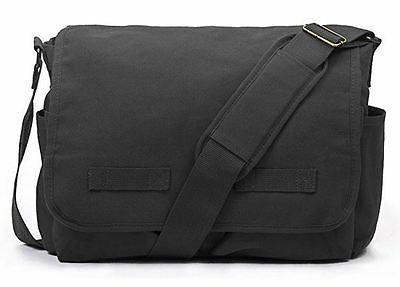 Messenger Girls Canvas Bag Black Laptop
