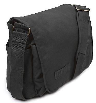 Messenger Bag For Girls Vintage Shoulder Bag Black Laptop