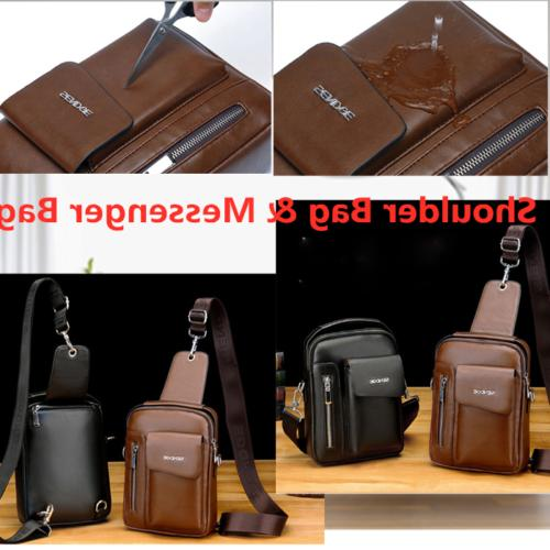 Messenger Leather Backpack Bags Casual Daypack