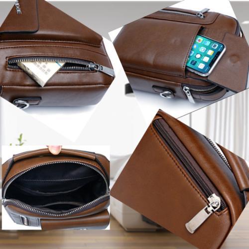 Messenger Crossbody Leather Shoulder Backpack Daypack Backpack