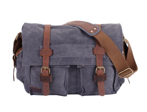 military canvas shoulder messenger bag