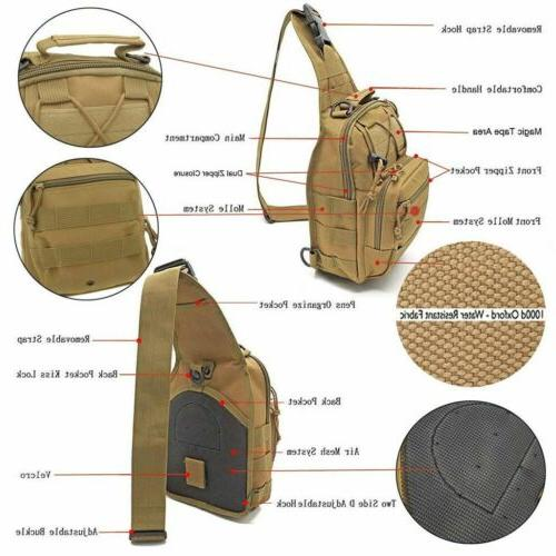 Tactical Chest Bag Backpack Men's Molle Crossbody Messenger Shoulder
