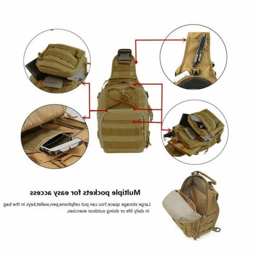 Tactical Bag Backpack Men's Crossbody Messenger Shoulder Pack