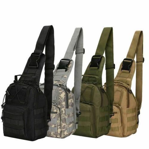 Tactical Men's Molle Crossbody Messenger Pack