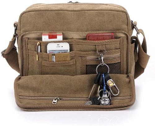multifunction versatile canvas handbag shoulder