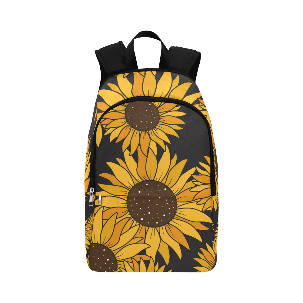 new arrival sunflowers backpack shoulder bag casual