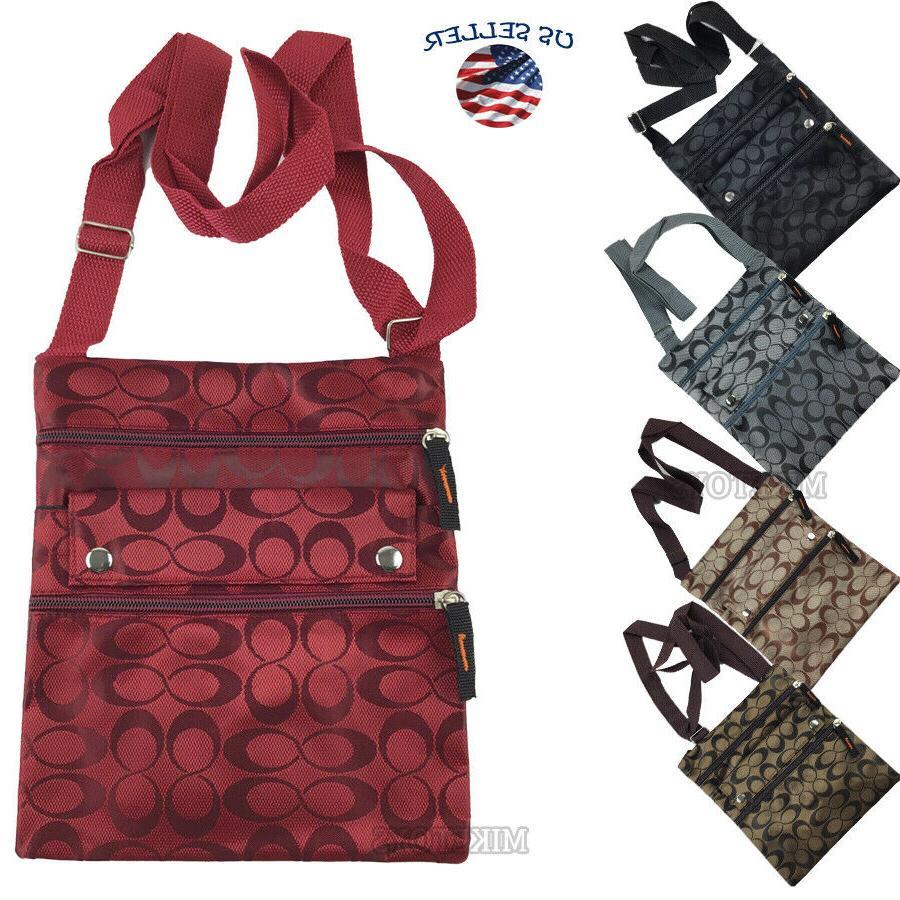new ladies thin flat crossbody purse bag
