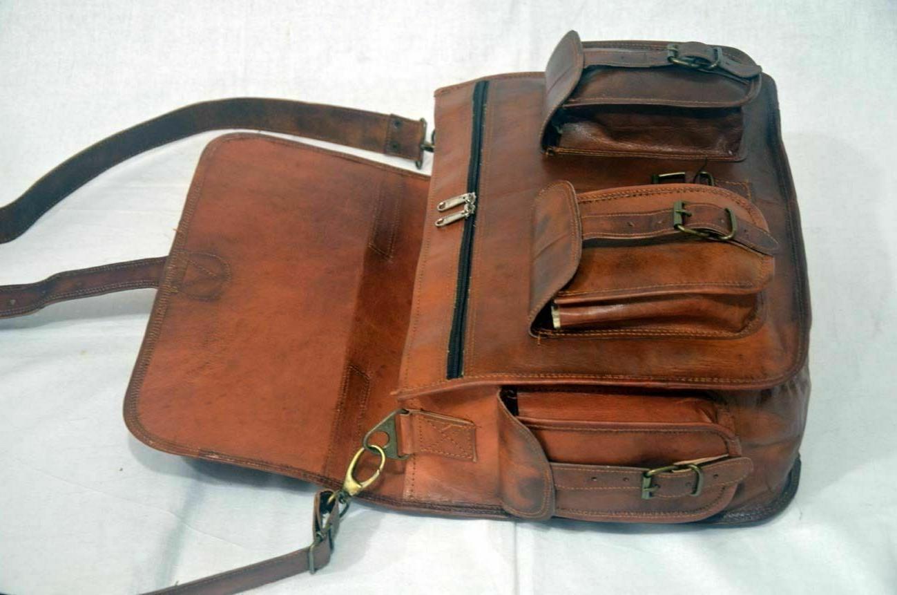 New Real Leather Bag Messenger Laptop