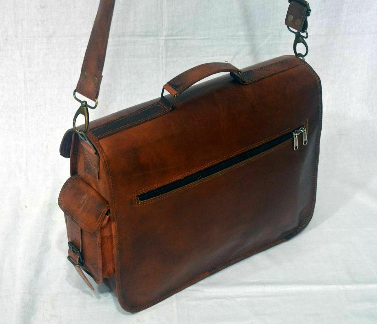 New Real Leather Messenger Laptop