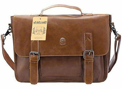 new pu faux leather briefcase vintage leather