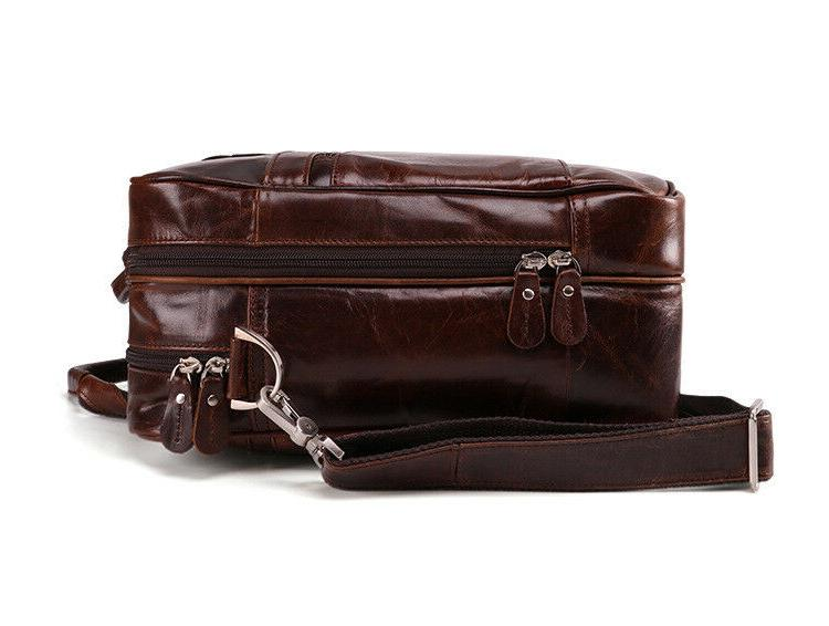 "New Vintage Style Genuine Leather Mens 15"" Messenger Bag"