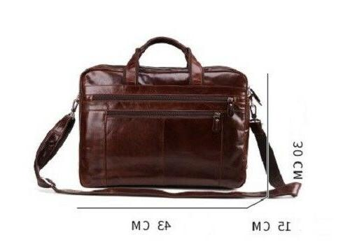 "New Vintage Genuine Mens 15"" Laptop Messenger Bag"