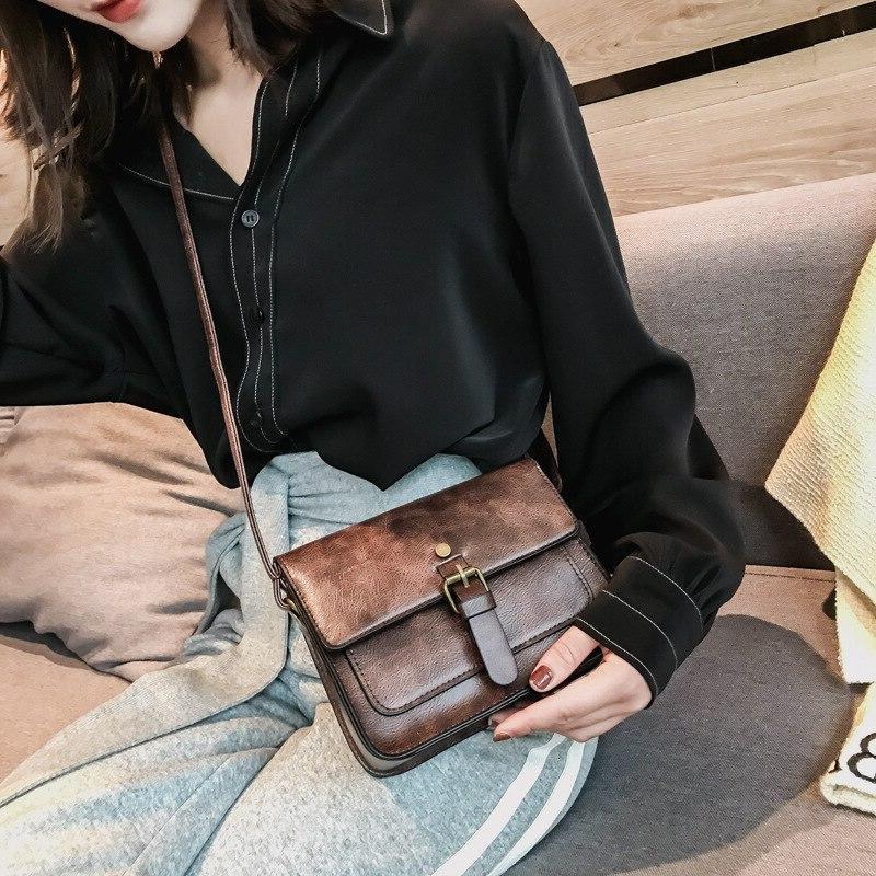 JIAMEN Flap Fashion Casual Leather Shoulder <font><b>Bags</b></font> <font><b>Messenger</b></font> Clutch