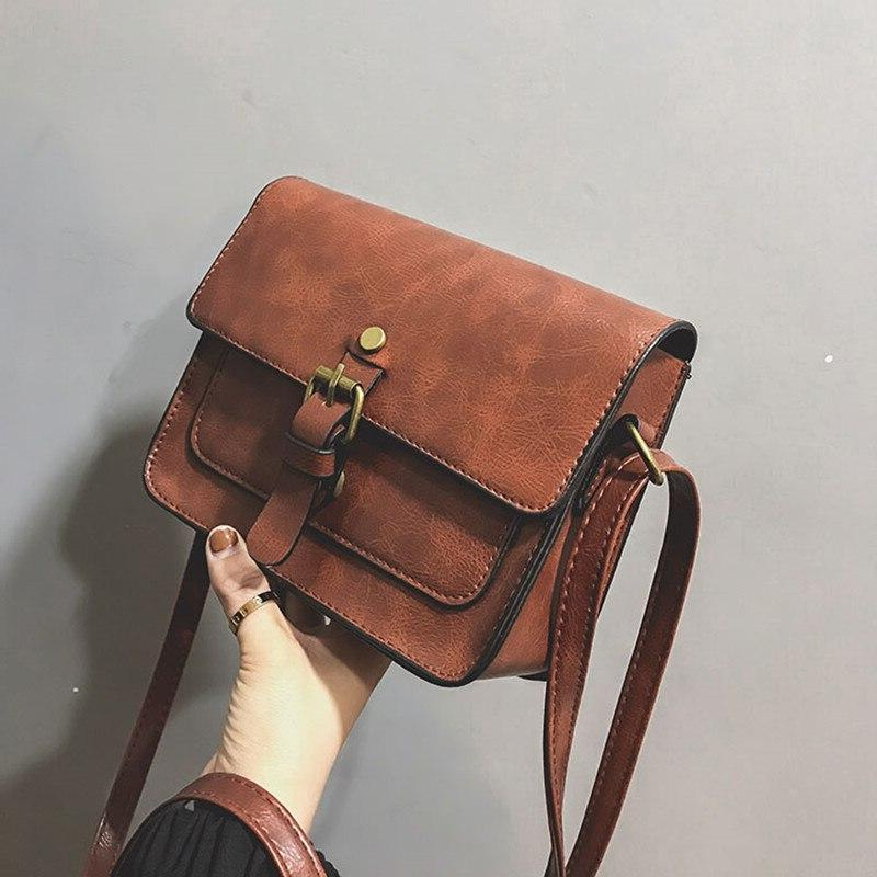 new vintage women flap fashion casual leather