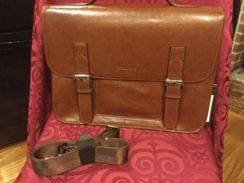new with tags pu leather tote briefcase
