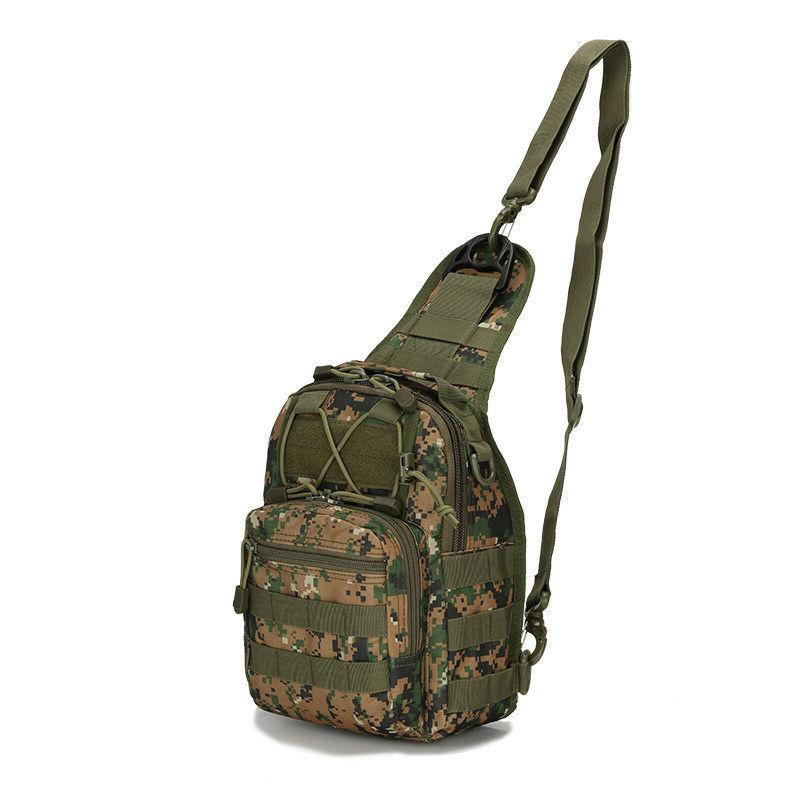Men Molle Sling Chest Bag Pack Messenger Shoulder