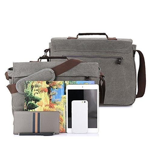 OXA 15.6-Inch Canvas Shoulder Strap Laptop & Men