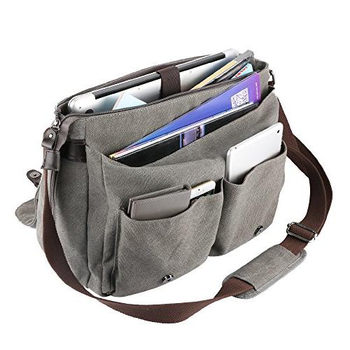 OXA Messenger Satchel Bag,Spacious and Canvas with Adjustable Shoulder Strap Laptop & Men
