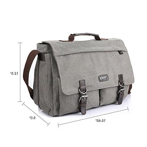 OXA 15.6-Inch Bag,Spacious Canvas Strap Laptop Bags,Women Men