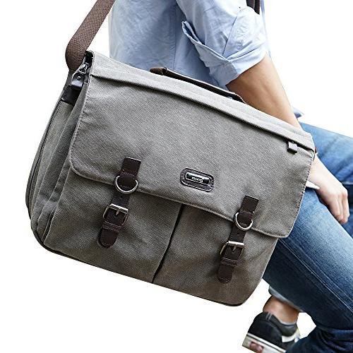 oxa 156 inch messenger satchel bagspacious eco friendly vint