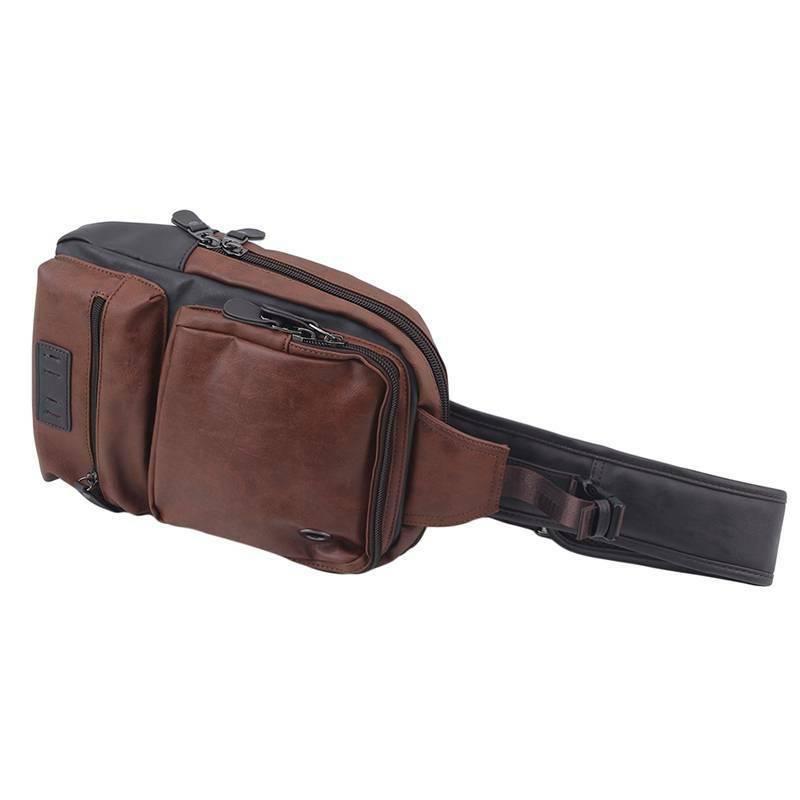 PU Shoulder Backpack Daypack for Men