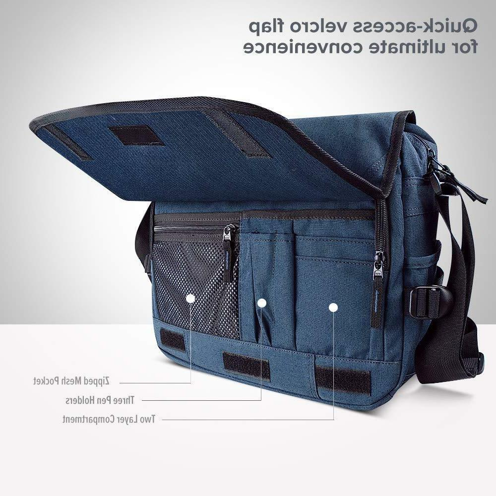 Qipi Messenger Bag - Shoulder Bag for Men & Women, Pocket