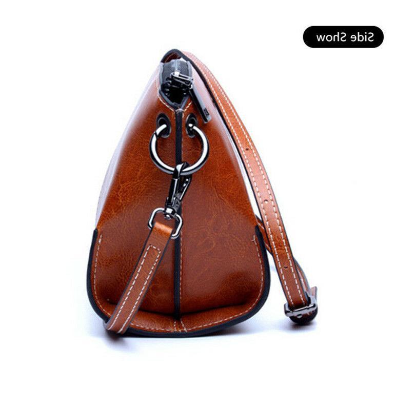 Real Leather Handbag Shoulder Purse