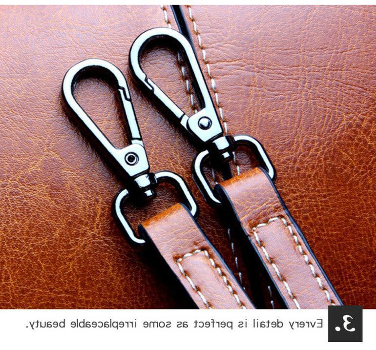 Real Leather Handbag Shoulder Satchel Purse Messenger