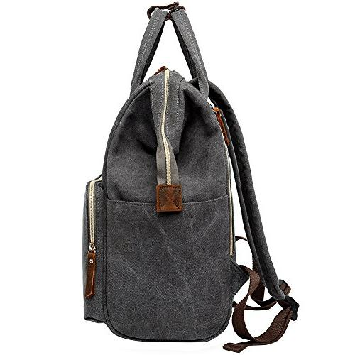 Retro Canvas Bags,Berchirly Rucksack Bookbag Laptop