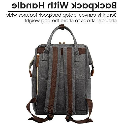Retro Canvas Doctor Bags,Berchirly Travel Rucksack Bookbag