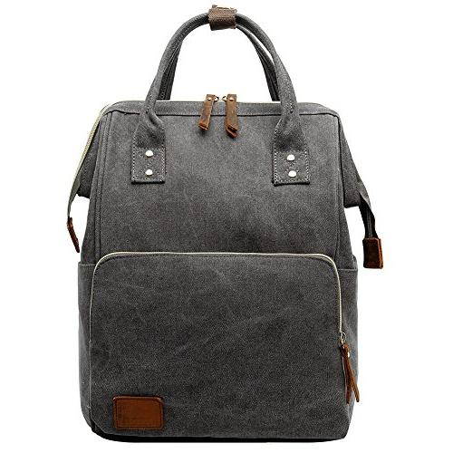 retro canvas laptop backpack rucksack
