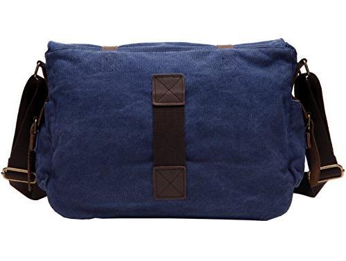 """Leather Messenger Shoulder Bag Fits 17.3"""" Laptop"""