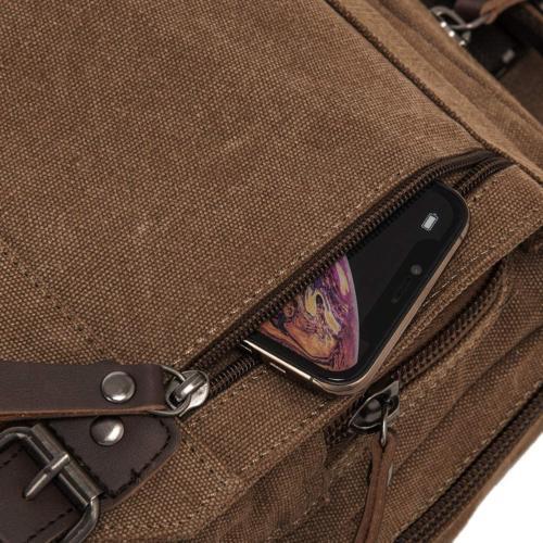 Retro Messenger Bag Canvas Shoulder Backpack Travel