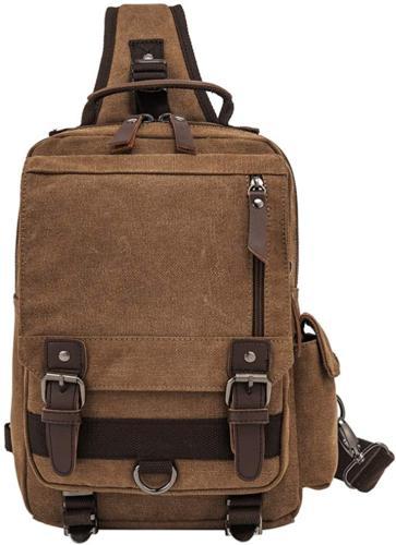 Retro Messenger Shoulder Backpack Straps Travel Sling