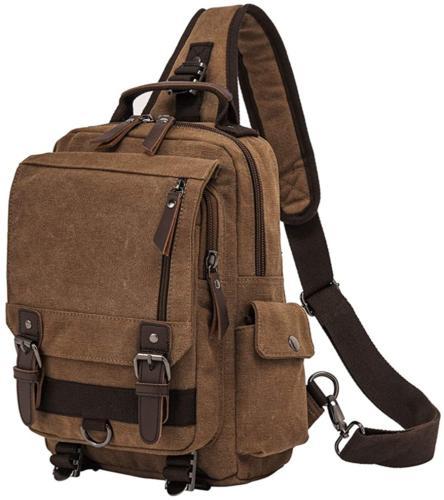 retro messenger bag canvas shoulder backpack one