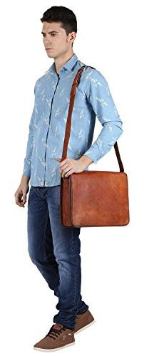 Rustic Town 15 Vintage Genuine Leather Laptop Messenger