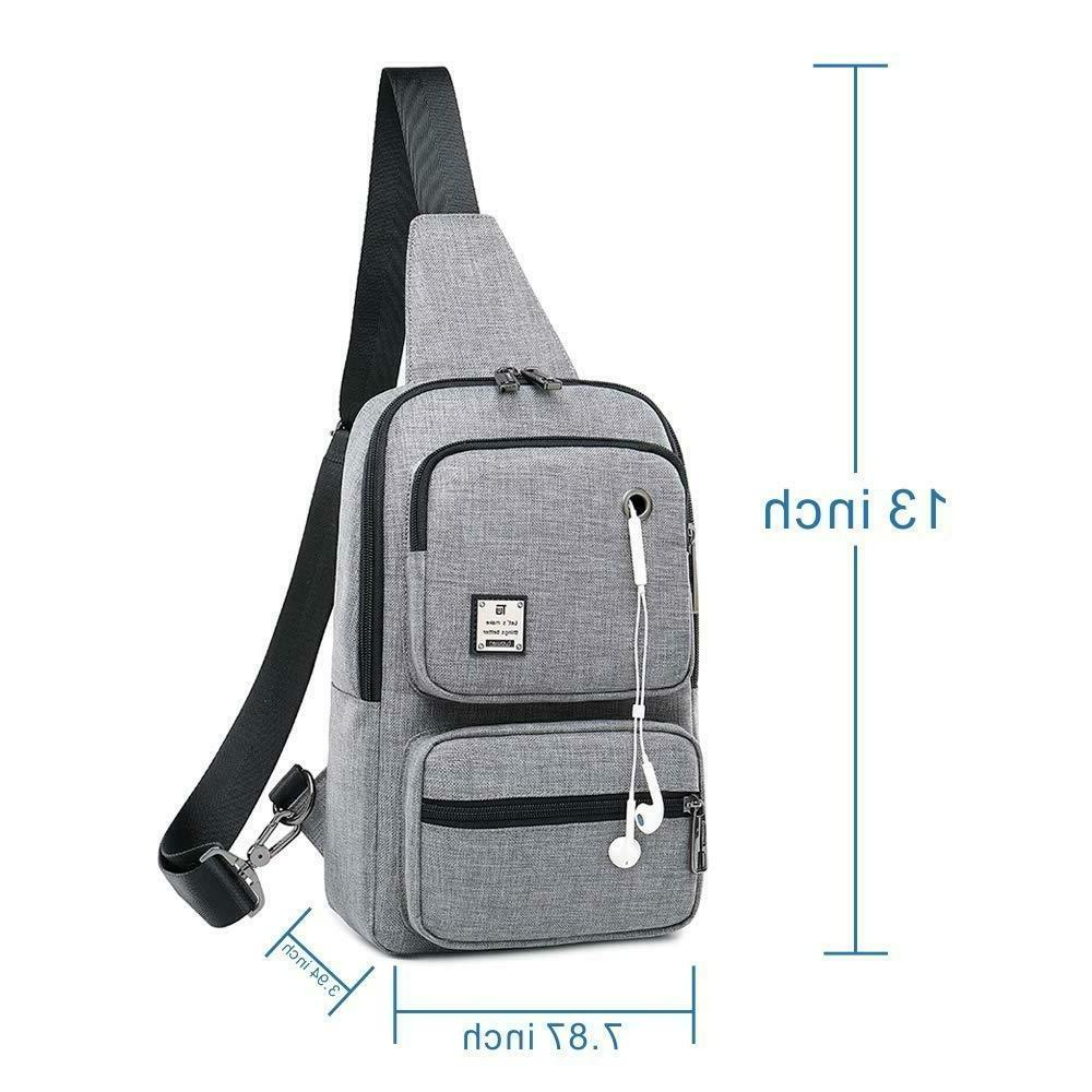 Sling Bag Backpack Shoulder Bag Grey
