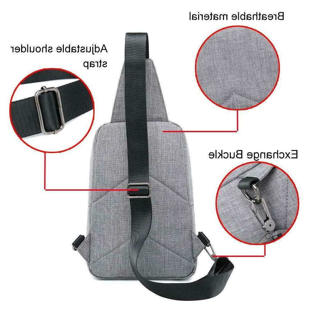 Sling Backpack Shoulder Bag Pack Grey Daypack Bag