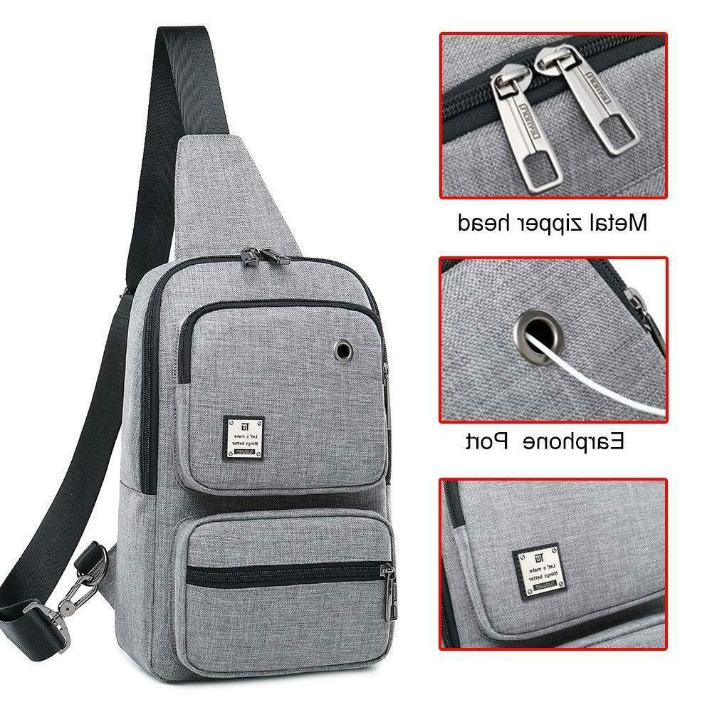 Sling Bag Chest Shoulder Grey Bag