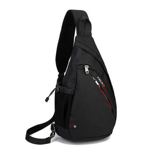 KAKA Sling Backpack Waterproof Casual black2