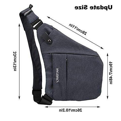 WATERFLY Sling Casual Chest Shoulder Bag Men Women