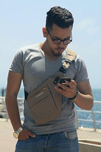 WATERFLY Sling Casual Shoulder Bag for Men