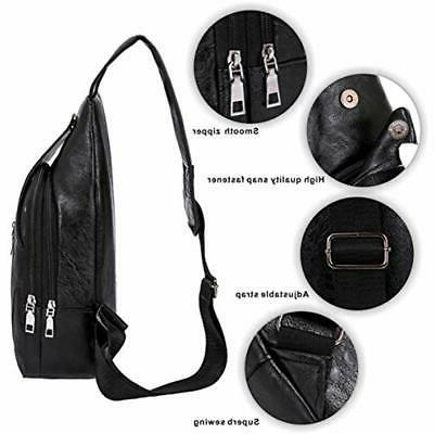 Sling Lightweight PU Leather Body Backpacks