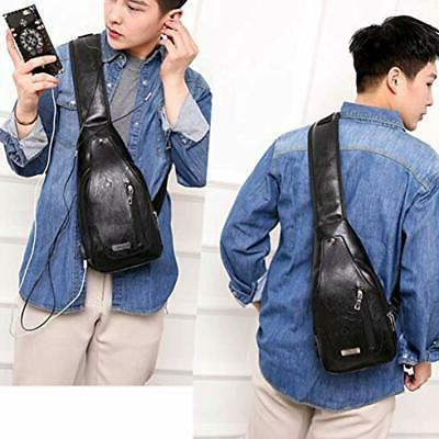 Sling Bag Leather Casual Daypack Body